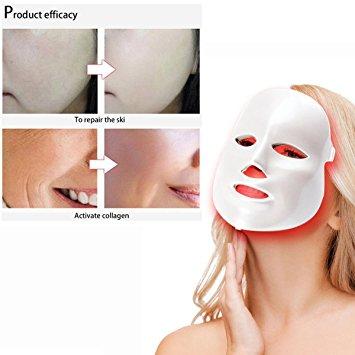 risultati applicazione maschera viso con luce fotonica a LED
